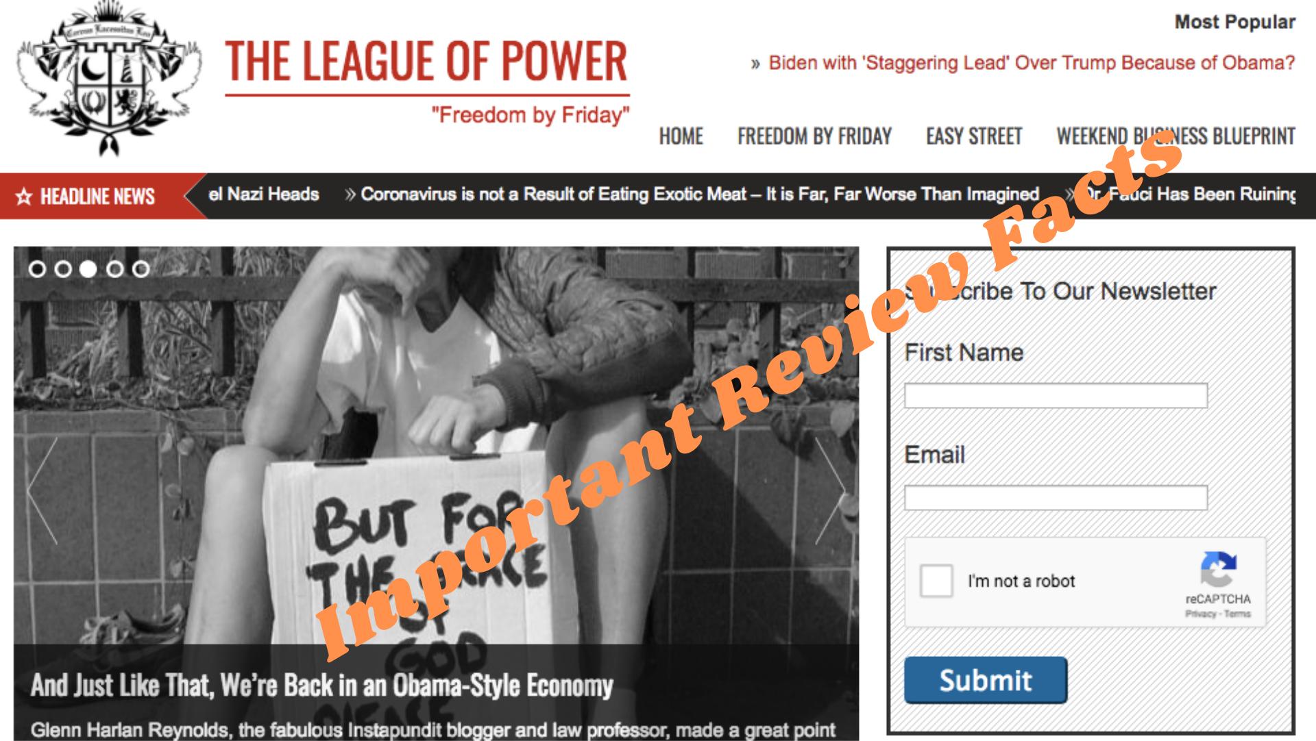 League of power newsletter