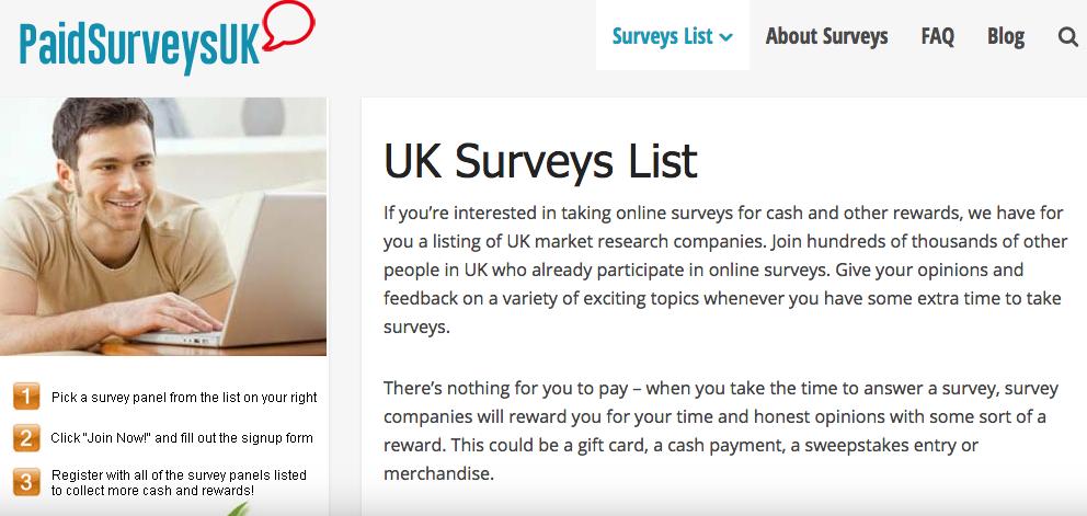 Paid Surveys UK Member's area