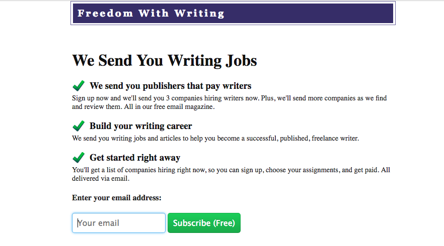 Is Freedom With Writing a Scam? Important review facts!