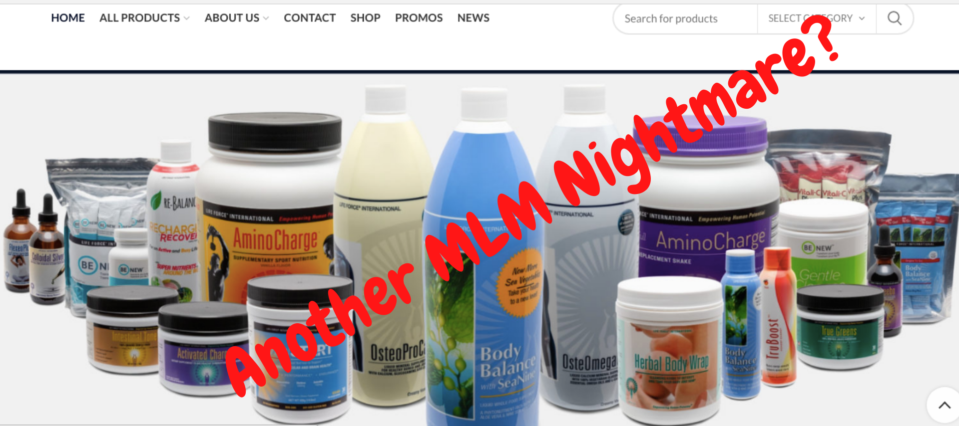 Is Life Force International a scam? Life Force International's homepage