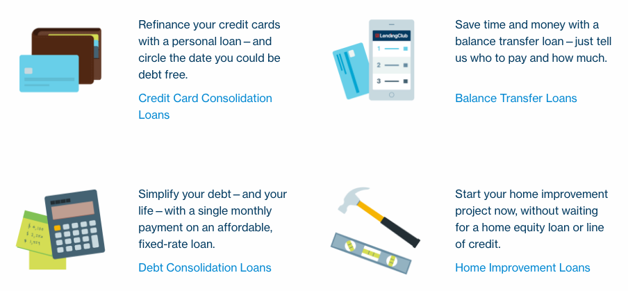 Lending Club personal loans are using for