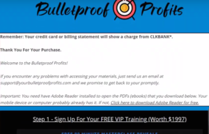 Bulletproof Profits member's area