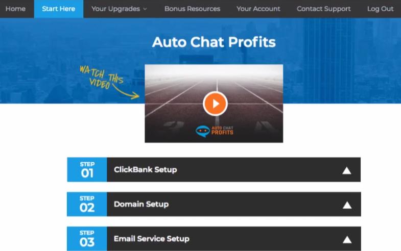 Auto Chat Profits Member's Area.