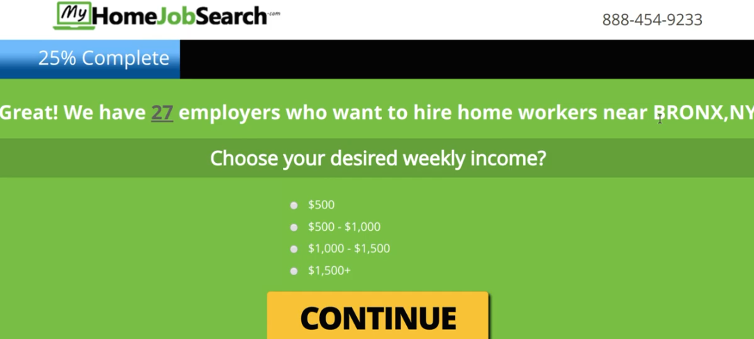 My Home Job Search Registration Process