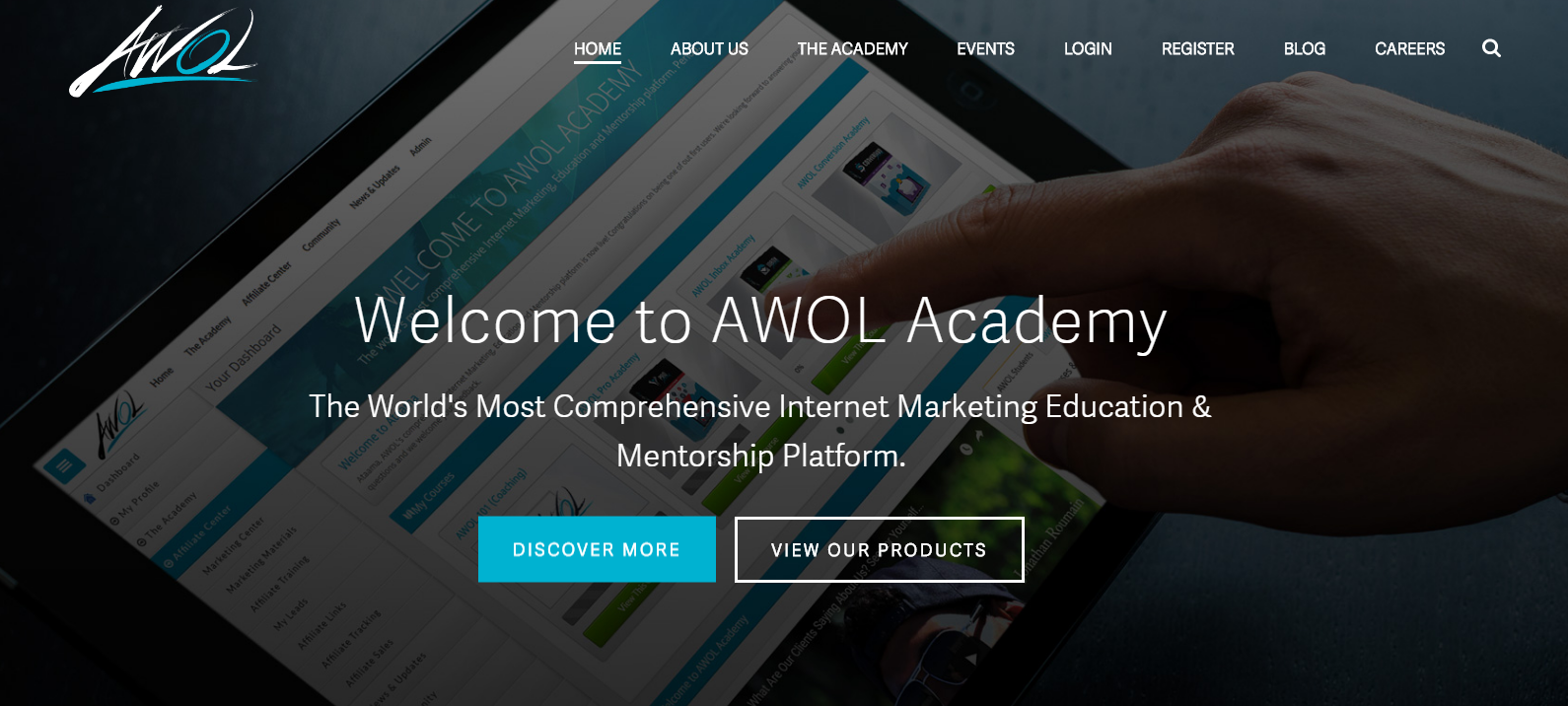 awol academy frontpage
