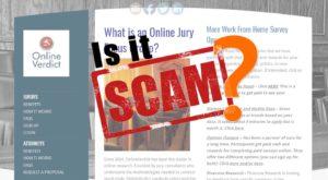 online verdict scam