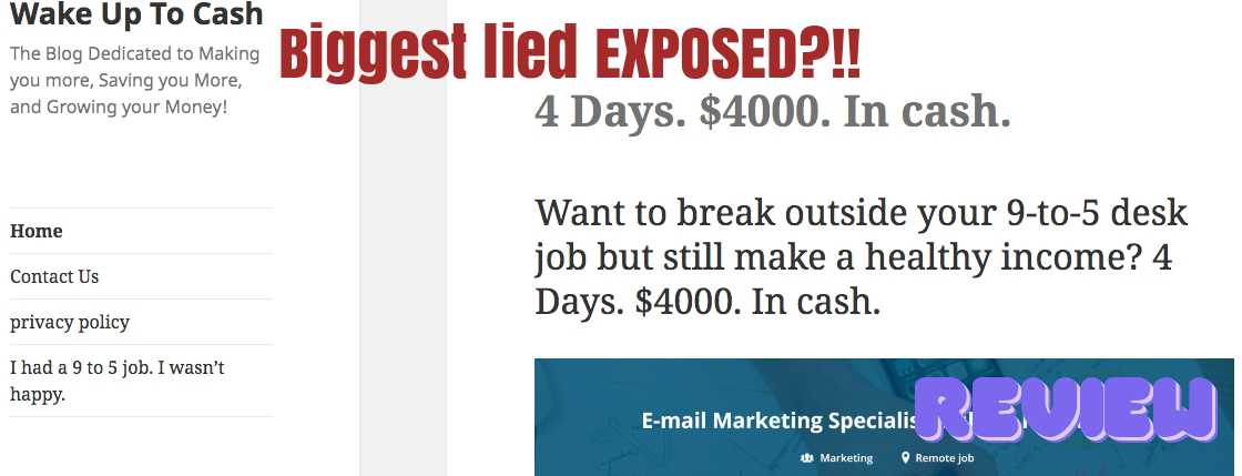 Is Wake Up to Cash a Scam? Biggest Lied Exposed?!!