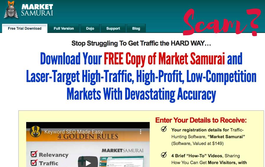 Is Market Samurai a Scam? Market Samurai Homepage