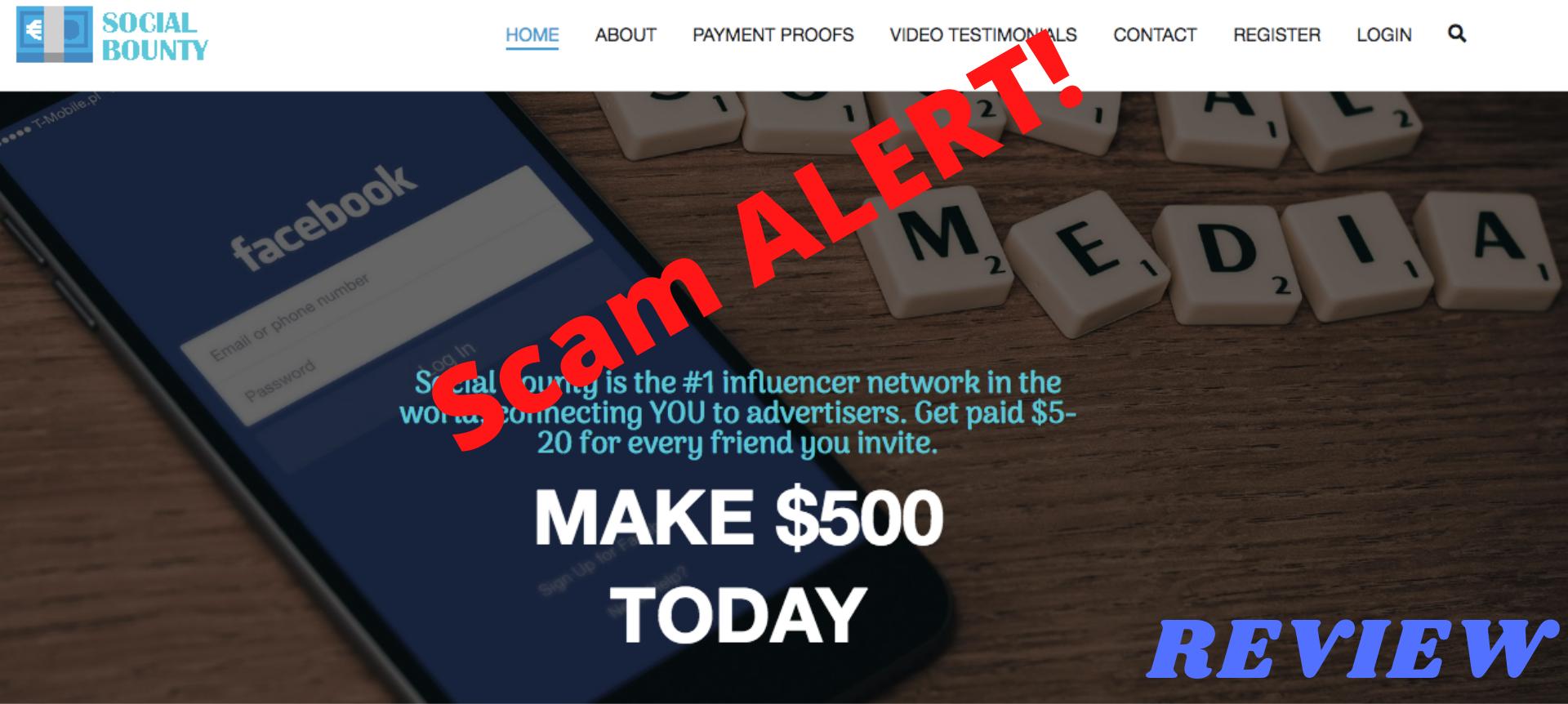 Social bounty review: Scam Alert