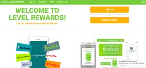 level reward review: level rewards home page