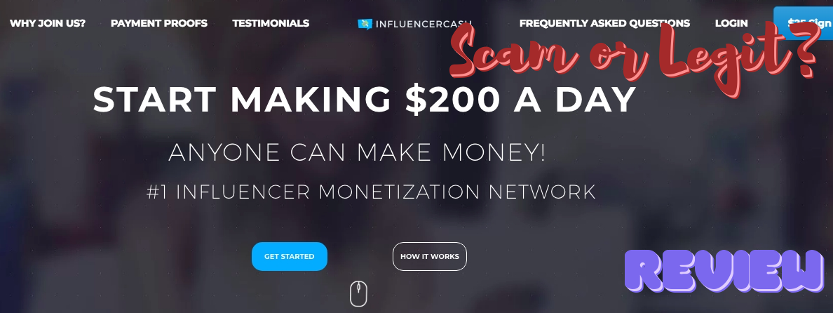 Is Influencer Cash a Scam? Review