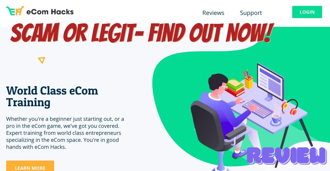Is eCom Hacks a scam?: eCom Hacks Homepage