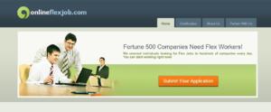 online flex job site review