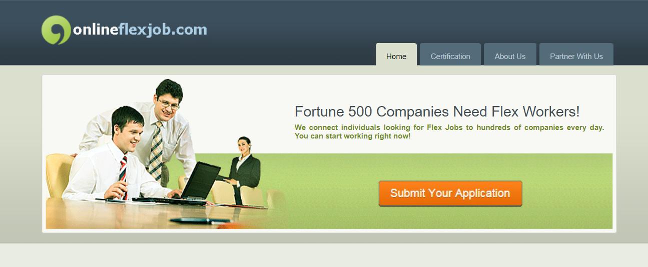 online flex job site