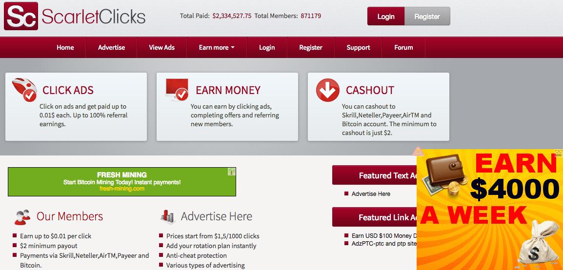 Scarlet-Clicks Landing Page