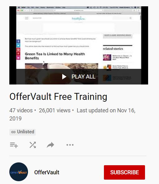 training offervault