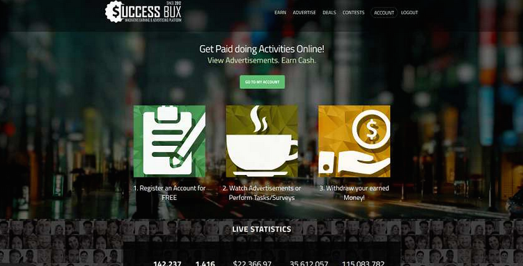SuccessBux Home Page