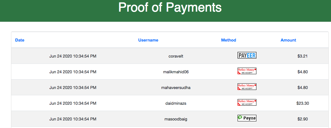 PositiveBux Payments proof