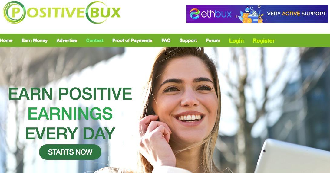 PositiveBux homepage