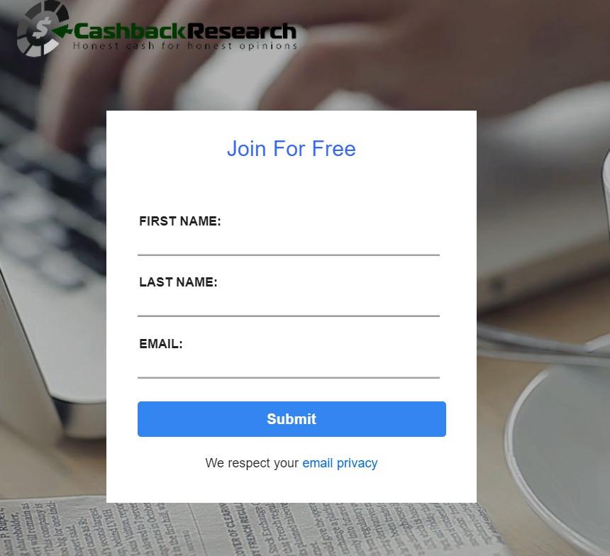 cashback research registration