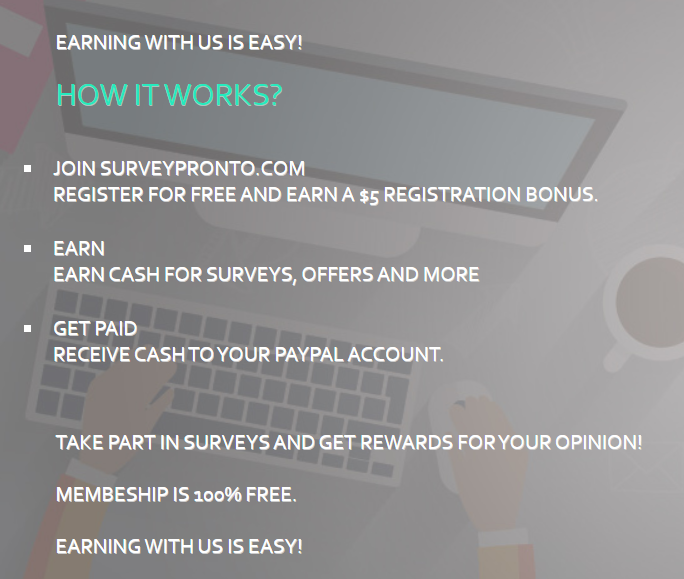 how does survey pronto works