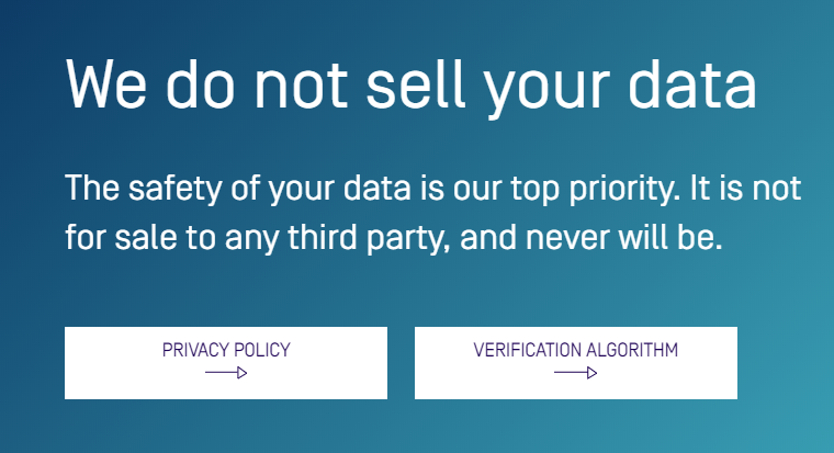 not sell data sweatcoin
