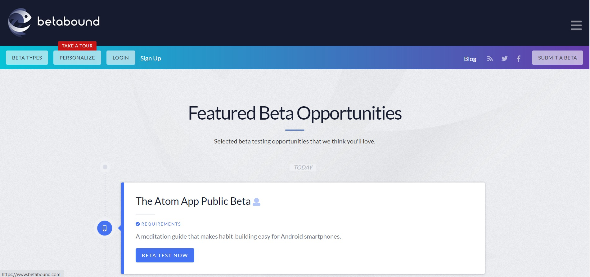 beta testing opportunities
