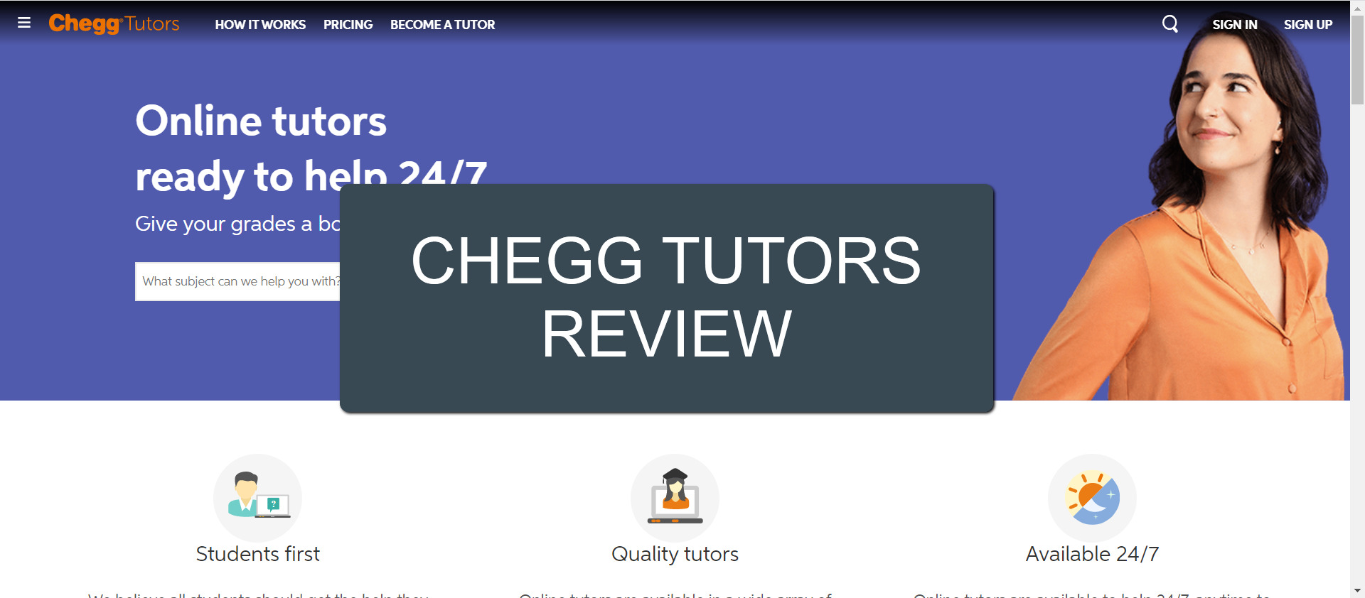 Chegg Tutors featured