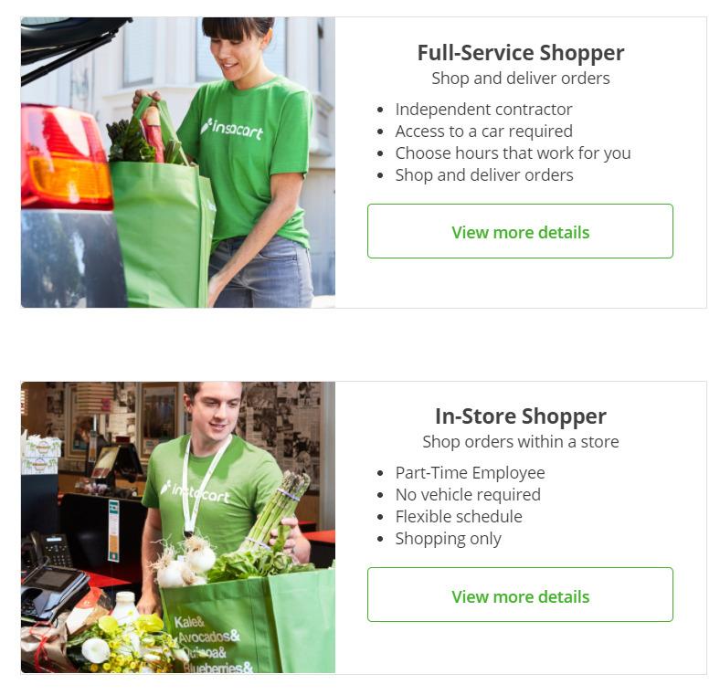 Instacart shopper requirement