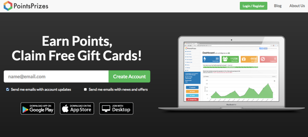 PointsPrizes GPT Home Page