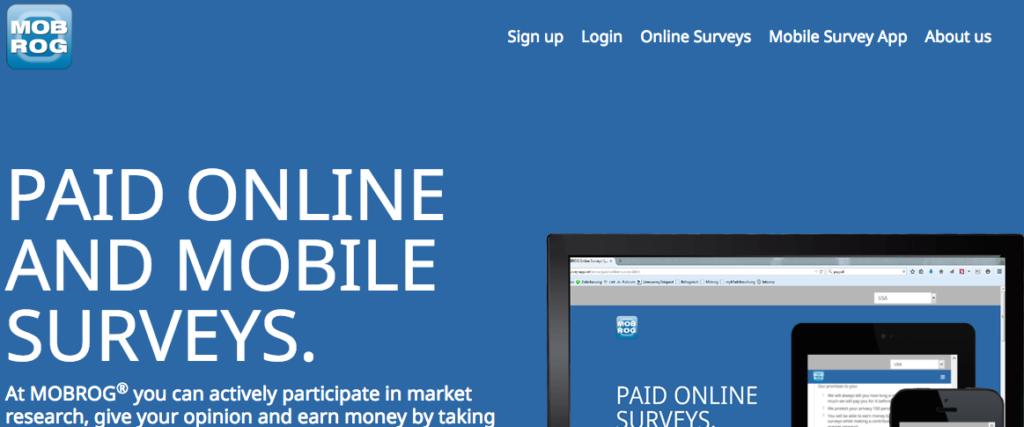 Mobrog Survey Homepage