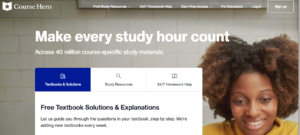 Course Hero Landing Page