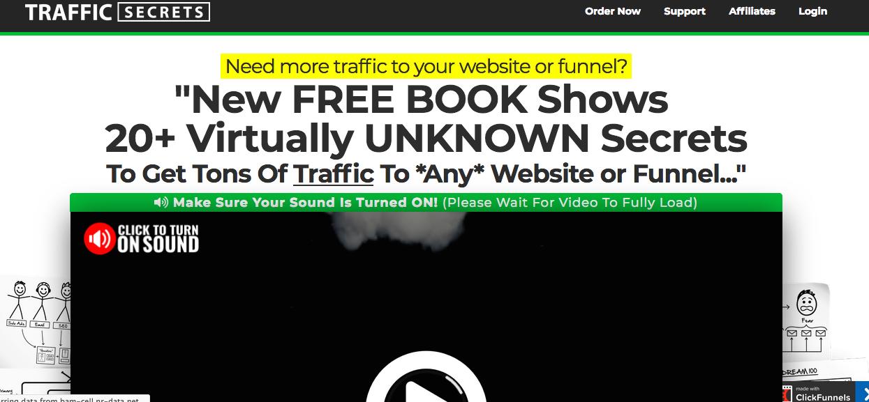 Traffic Secrets Landing page