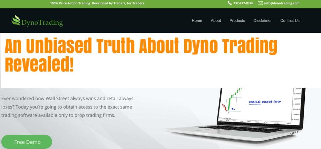 Dyno Trading Landing Page