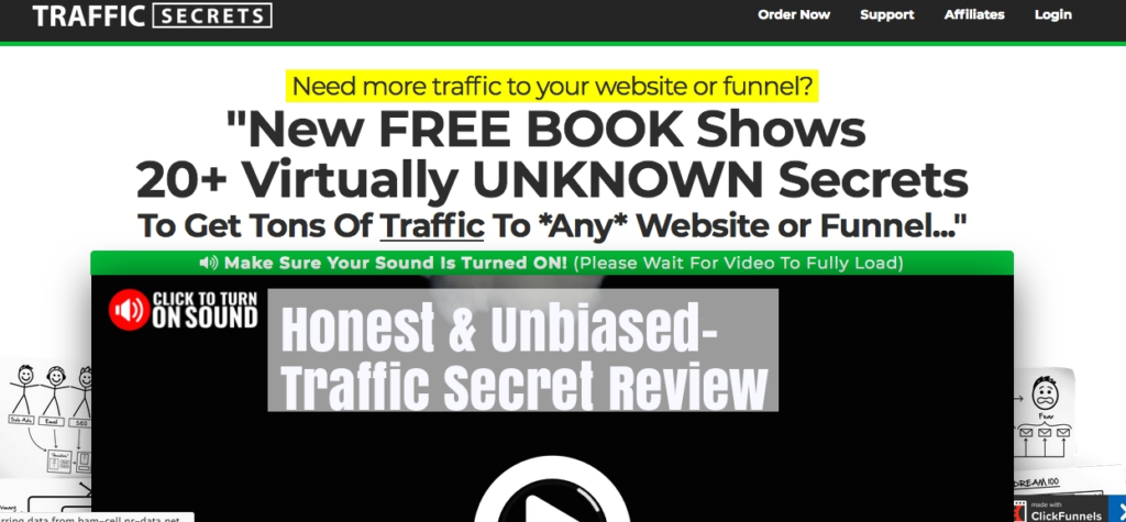 Traffic Secrets homepage