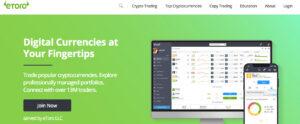eToro Landing Page
